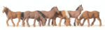 Merten  0215018 Scale: 1:87, HO Horses Brown (6) Figure Set